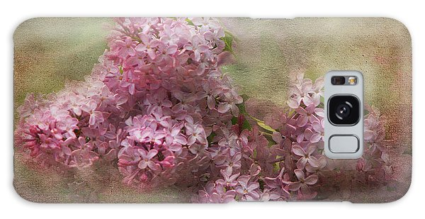 Painterly Lilac Blossom Photograph Galaxy Case