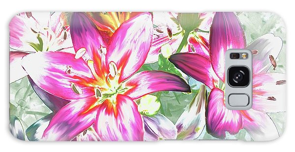Painterly Pink Tiger Lilies Galaxy Case