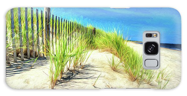 Galaxy Case featuring the photograph Painterly  Waterfront Dune Grass by Gary Slawsky