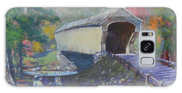 Painting Covered Bridge  Galaxy Case