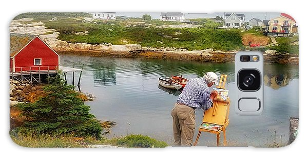Painting Peggys Cove Galaxy Case