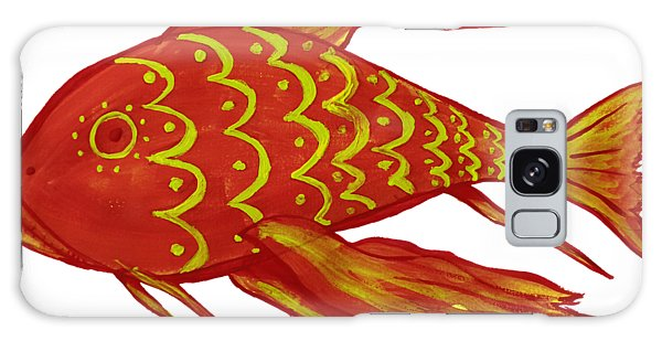 Painting Red Fish Galaxy Case