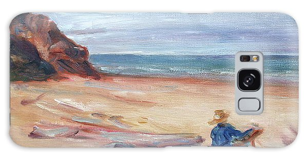 Painting The Coast - Scenic Landscape With Figure Galaxy Case