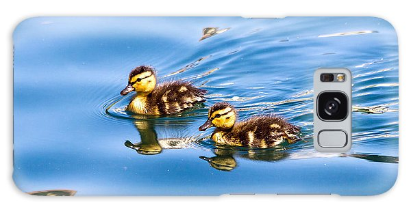 Galaxy Case featuring the photograph Duckling Duo by Kate Brown