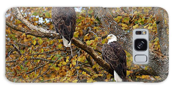 Pair Of Eagles In Autumn Galaxy Case by Larry Ricker