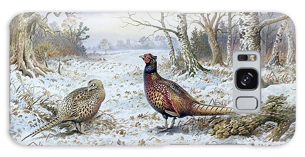 Pair Of Pheasants With A Wren Galaxy S8 Case