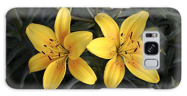 Pair Of Yellow Lilies Galaxy Case