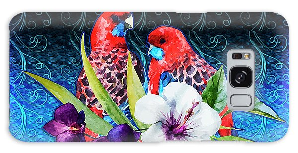 Paired Parrots Galaxy Case