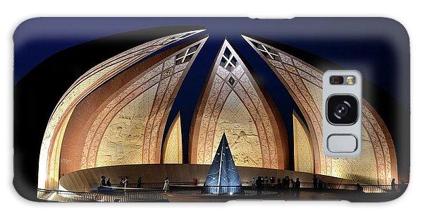 Pakistan Monument Illuminated At Night Islamabad Pakistan Galaxy Case