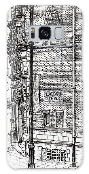 Pen And Ink Drawing Galaxy Case - Palace Hotel Oxford Street Manchester by Vincent Alexander Booth