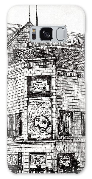 Pen And Ink Drawing Galaxy Case - Palace Theater Manchester by Vincent Alexander Booth