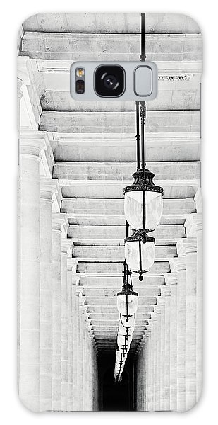 Palais-royal Arcade Black And White - Paris, France Galaxy Case