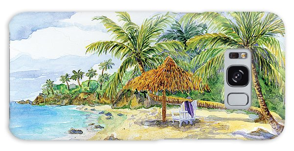 Palappa N Adirondack Chairs On A Caribbean Beach Galaxy Case by Audrey Jeanne Roberts