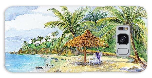 Palappa N Adirondack Chairs On A Caribbean Beach Galaxy Case