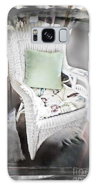 Pale Green Pillow Chair Galaxy Case