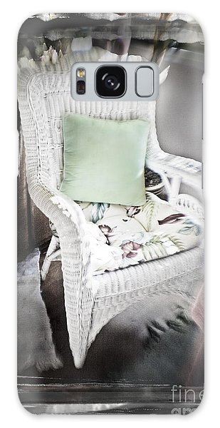 Pale Green Pillow Chair Galaxy Case