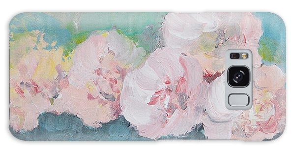 Pale Pink Peonies Galaxy Case