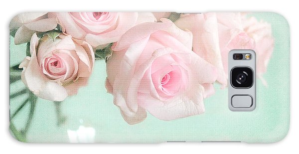 Pale Pink Roses Galaxy Case by Lyn Randle