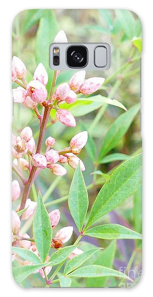 Pale Powder Pink Plant Galaxy Case