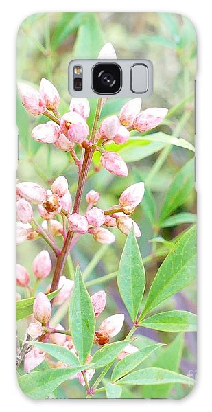 Galaxy Case featuring the photograph Pale Powder Pink Plant by Ivana Westin