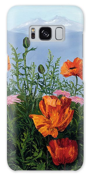 Pallet Knife Poppies Galaxy Case