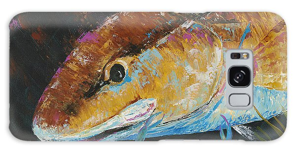 Pallet Knife Redfish And Blue Crab Galaxy Case