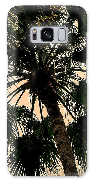 Palm Against The Sky Galaxy Case