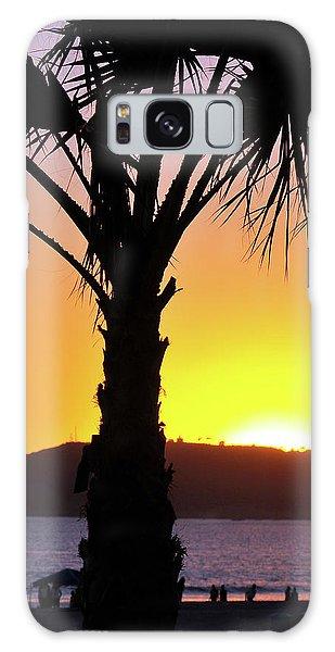 Palm At Sunset Galaxy Case