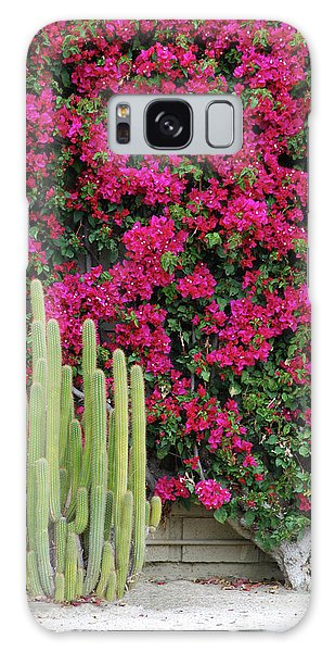 Palm Desert Blooms Galaxy Case