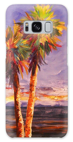 Palm Duo Galaxy Case by Anne Marie Brown
