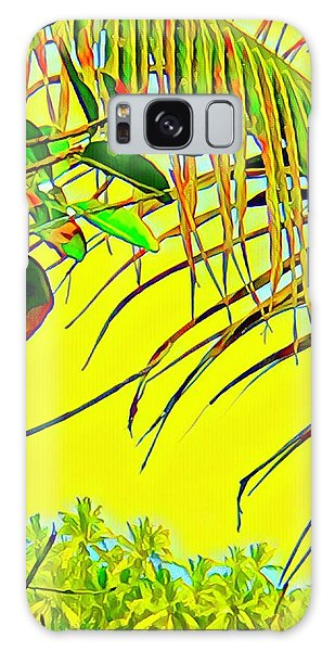 Palm Fragment In Yellow Galaxy Case