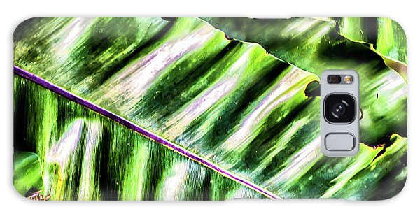 Palm Fronds Up Close Galaxy Case
