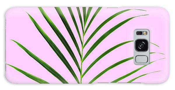 Green Leaf Galaxy Case - Palm Leaf by Tony Cordoza