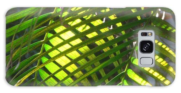 Palm Leaves In Sun Galaxy Case