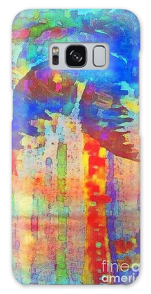 Palm Party Galaxy Case by Holly Martinson
