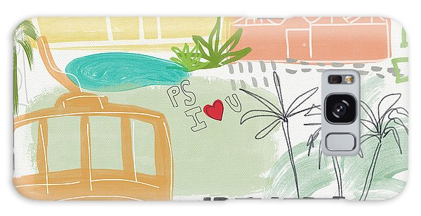 Palm Springs Cityscape- Art By Linda Woods Galaxy Case