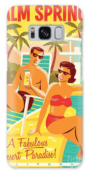 Poster Galaxy Case - Palm Springs Poster - Retro Travel by Jim Zahniser
