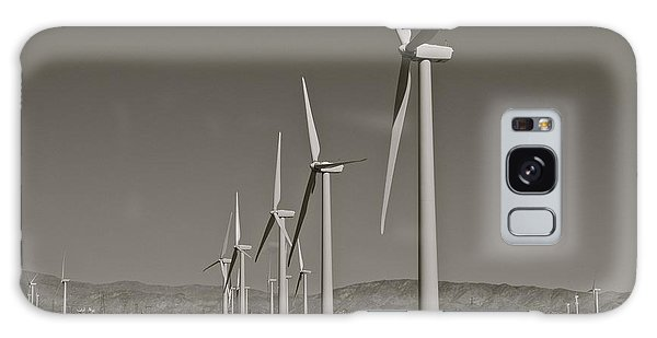 Palm Springs Windmills I In B And W Galaxy Case by Kirsten Giving
