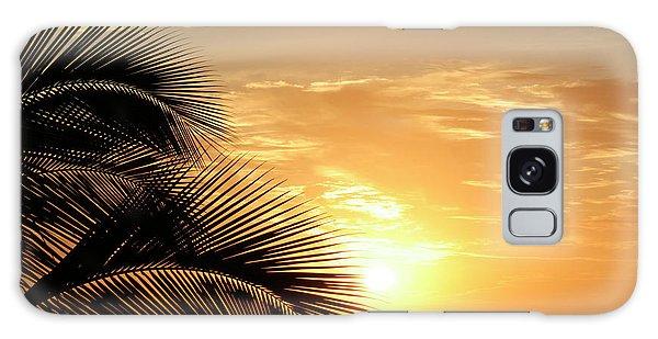 Palm Sunset 2 Galaxy Case