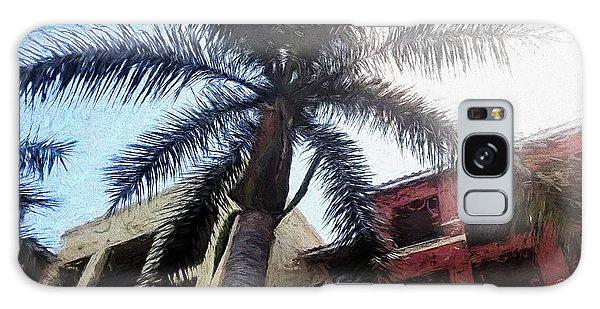 Palm Tree Art Galaxy Case by Rena Trepanier