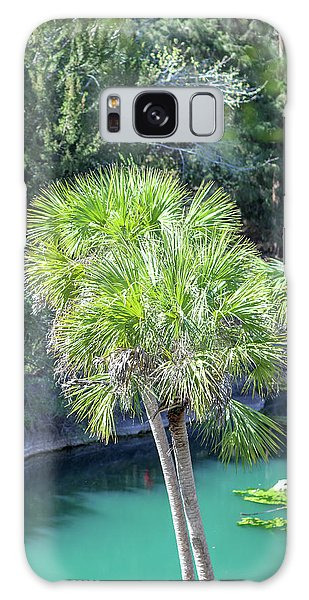 Palm Tree Blue Pond Galaxy Case