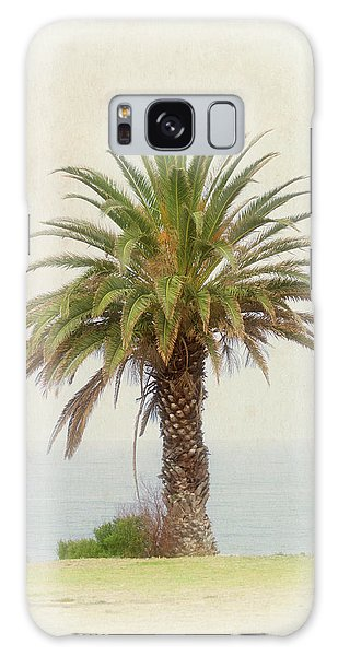 Palm Tree In Coastal California In A Retro Style Galaxy Case