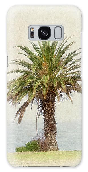 Palm Tree In Coastal California In A Retro Style Galaxy Case