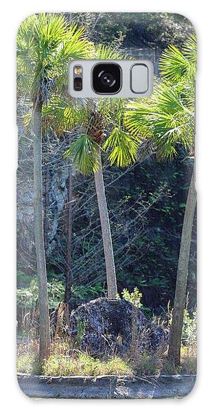 Palm Tree Island Galaxy Case