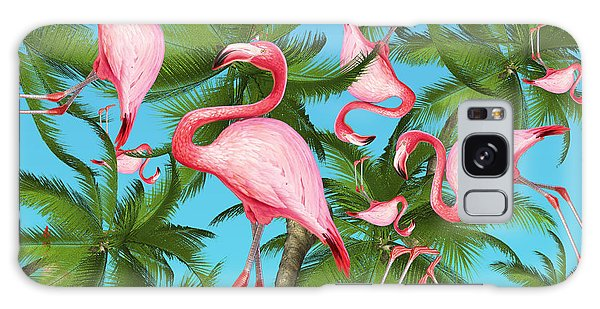 Bird Galaxy Case - Palm Tree by Mark Ashkenazi
