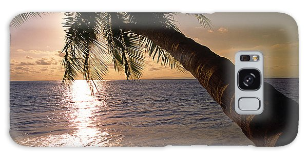 Palm Tree Over The Beach In Costa Rica Galaxy Case