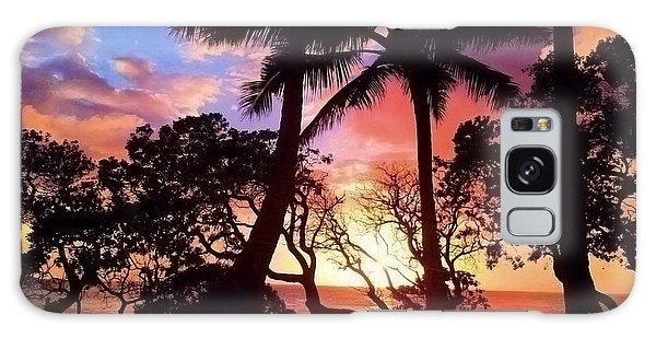 Palm Tree Silhouette Galaxy Case