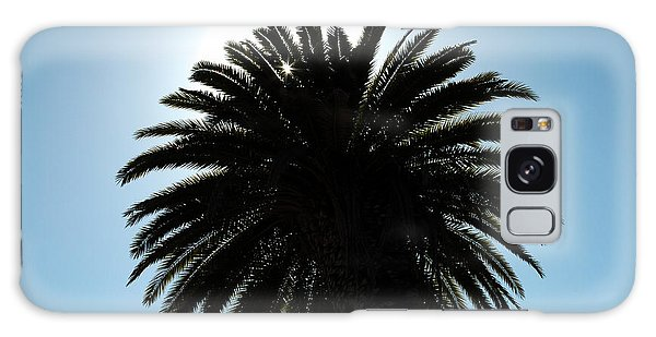 Palm Tree Silhouette Galaxy Case
