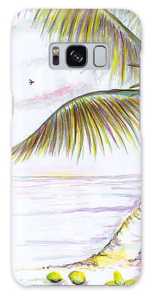 Galaxy Case featuring the digital art Palm Tree Study Three by Darren Cannell