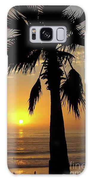 Palm Tree Sunset Galaxy Case